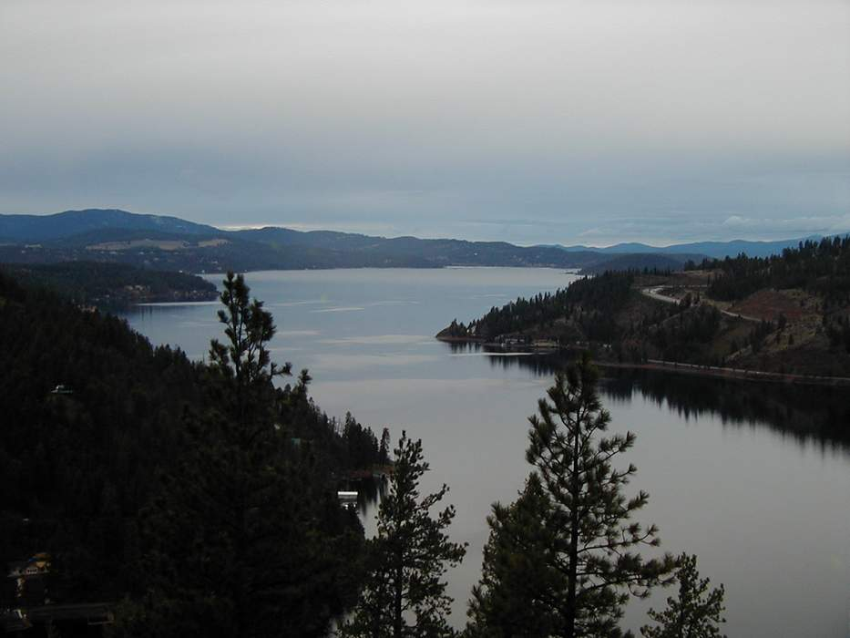 Lake Coeur d'Alene: Glacial lake in Idaho, US