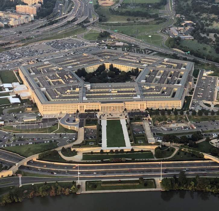 The Pentagon: The United States Department of Defense's office building in Virginia