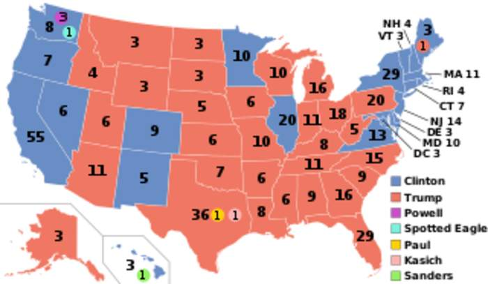 United States Electoral College: Institution that officially elects both the President and Vice President of the United States